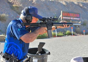 Jerry Miculek shoots the AR GOLD trigger